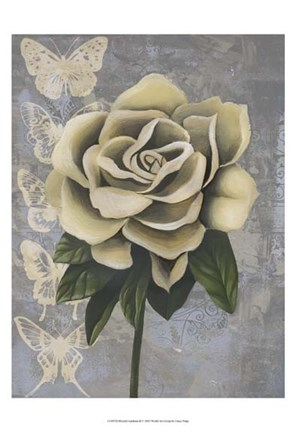 Framed Blissful Gardenia II Print