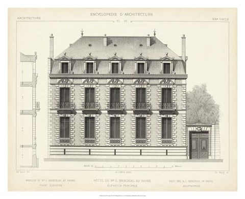 Framed French Facade II Print