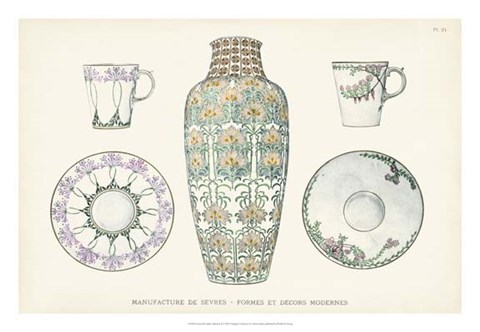 Framed Sevres Porcelain Collection II Print