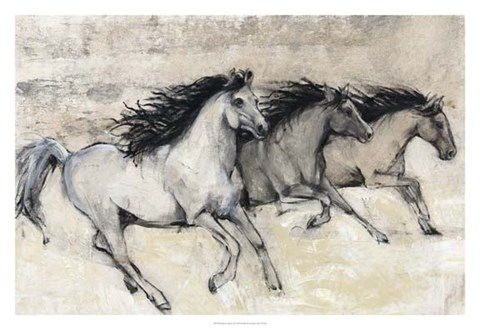 Framed Horses in Motion II Print