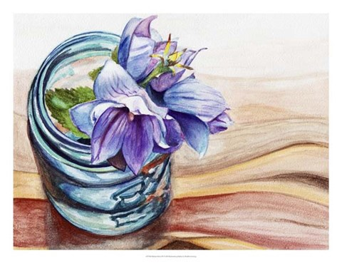 Framed Ball Jar Flower IV Print
