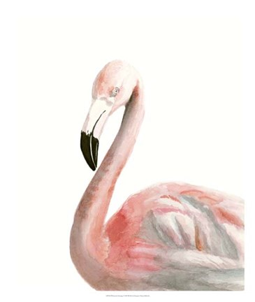 Framed Watercolor Flamingo Print