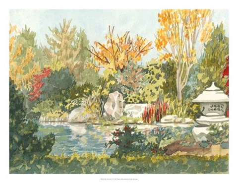 Framed Plein Air Garden IV Print