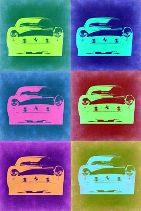 Framed Ferrari Pop Art 2 Print