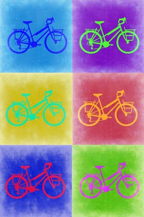 Framed Vintage Bicycle Pop Art 2 Print