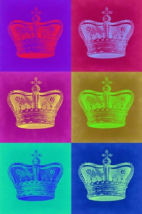 Framed Crown Pop Art 2 Print