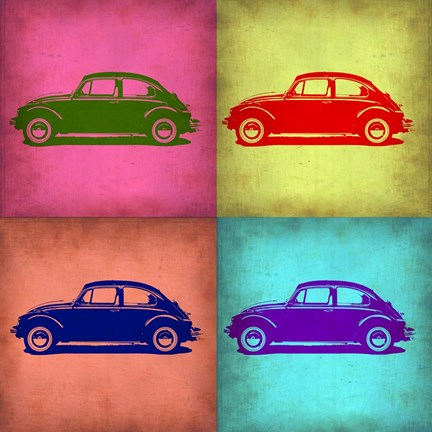 Framed VW Beetle Pop Art 1 Print