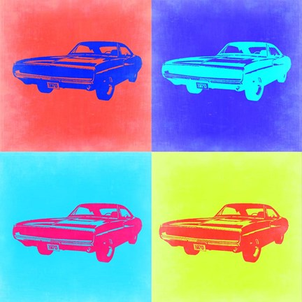 Framed Dodge Charger Pop Art 2 Print