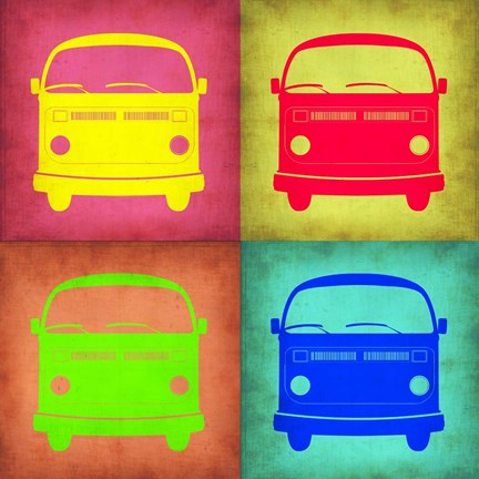 Framed Vintage Bus Pop Art 1 Print