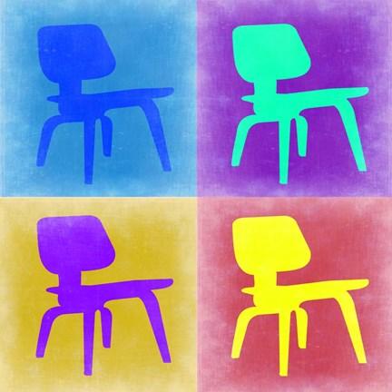 Eames chair pop art 4 fine art print by naxart at for Pop furniture eames erfahrung