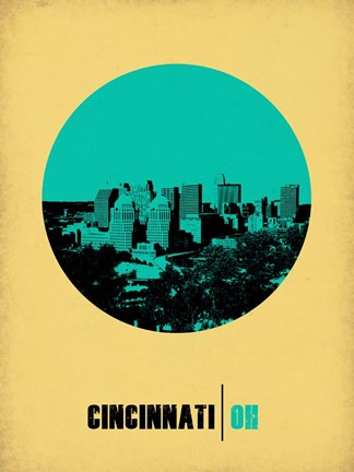 Framed Cincinnati Circle 2 Print