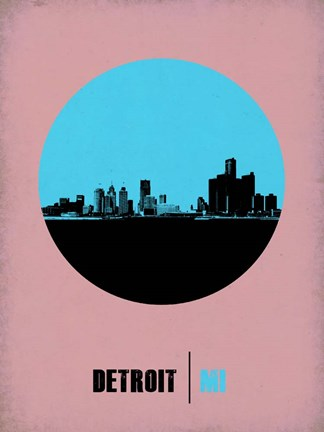 Framed Detroit Circle 1 Print