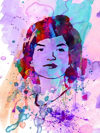 Framed Jackie Kennedy Watercolor Print