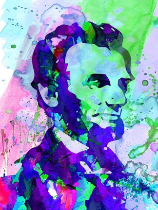 Framed Lincoln Watercolor Print