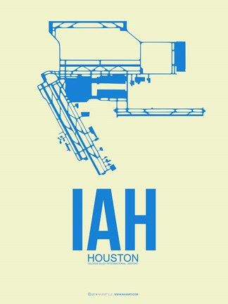 Framed IAH Houston Airport 3 Print
