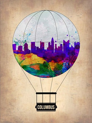 Framed Columbus Air Balloon Print