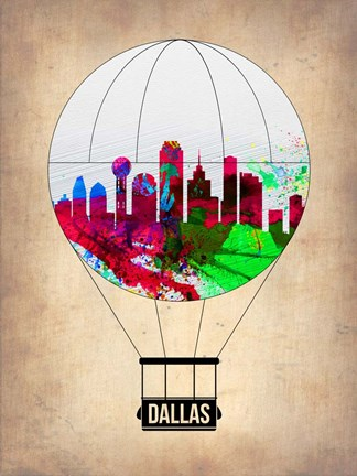 Framed Dallas Air Balloon Print