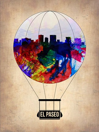 Framed El Paseo Air Balloon Print