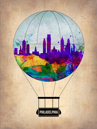 Framed Philadelphia Air Balloon Print