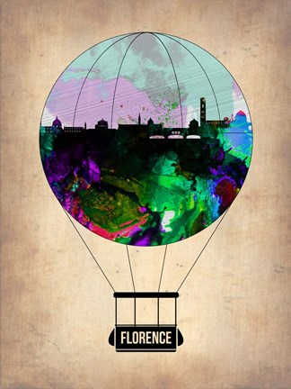 Framed Florence Air Balloon Print
