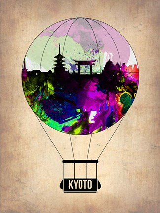 Framed Kyoto Air Balloon Print