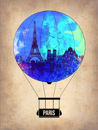 Framed Paris Air Balloon Print