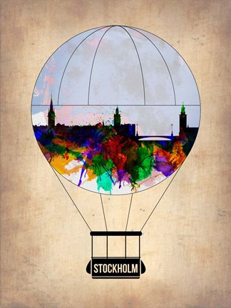 Framed Stockholm Air Balloon Print