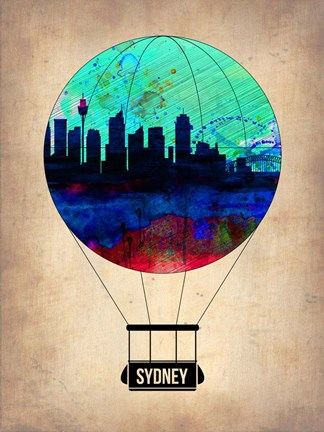 Framed Sydney Air Balloon Print