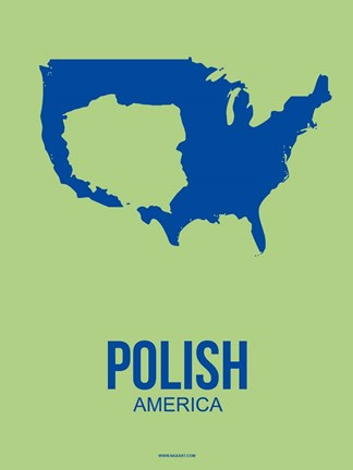 Framed Polish America 3 Print