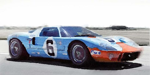 Framed Ford GT 40 Gulf Print