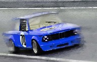 1969 BMW 2002 Racing  Fine Art Print