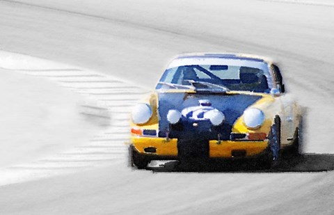 Framed Porsche 911 on Race Track Print