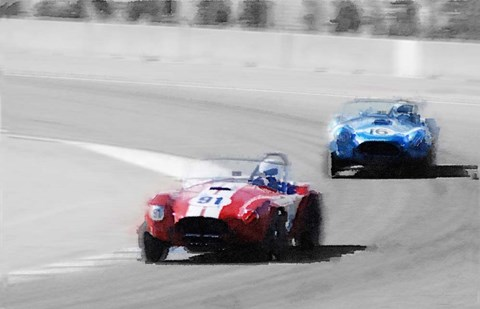 Framed AC Cobra Racing Monterey Print