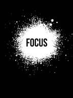 Focus Black  Fine Art Print