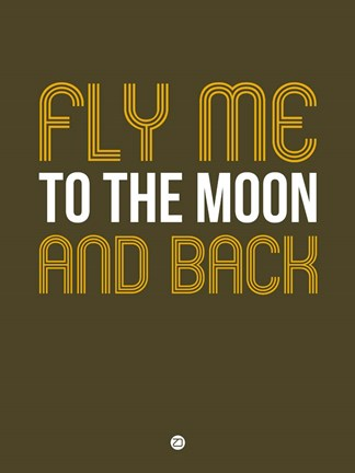 Framed Fly Me To The Moon And Back Print