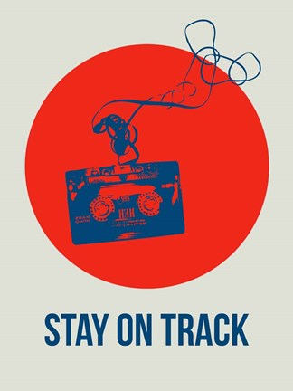 Framed Stay On Track Circle 1 Print