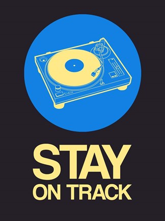 Framed Stay On Track Record Player 2 Print