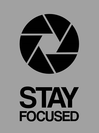 Framed Stay Focused Circle 3 Print
