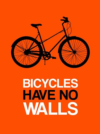 Framed Bicycles Have No Walls 1 Print