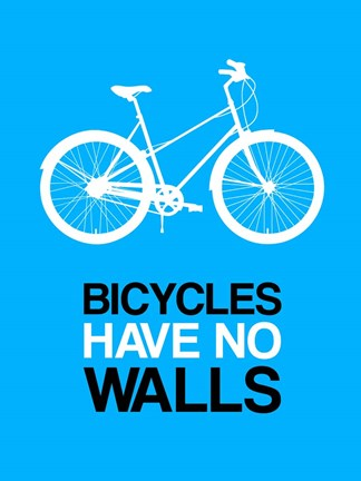 Framed Bicycles Have No Walls 2 Print