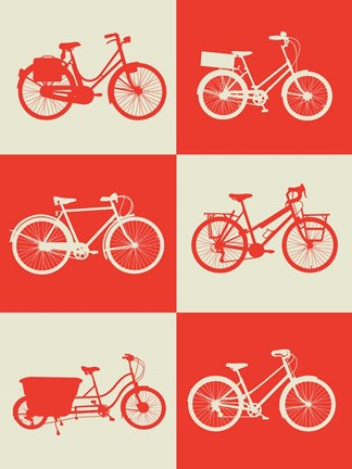 Framed Bicycle Collection 1 Print