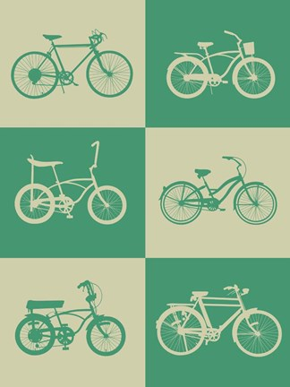 Framed Bicycle Collection 4 Print