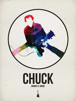 Framed Chuck Watercolor Print