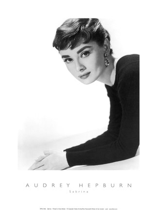 Framed Audrey Hepburn as Sabrina Print