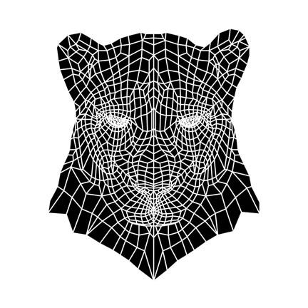 Framed Panther Head Mesh Print