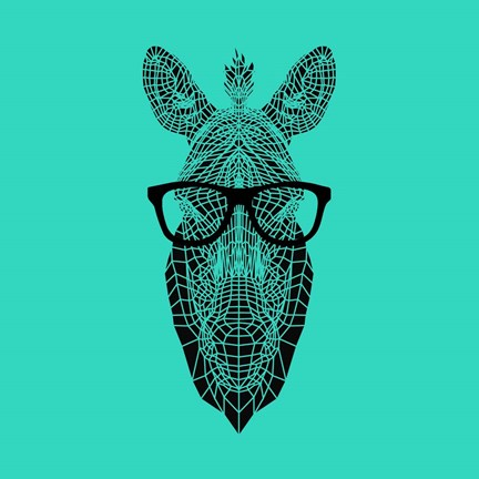 Framed Zebra in Glasses Print