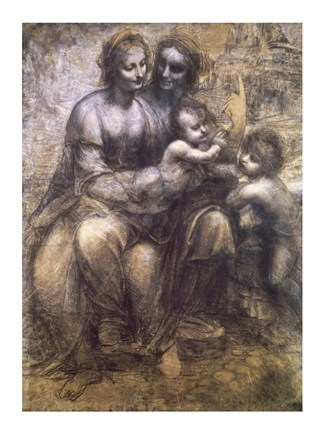 Framed Virgin and Child with St. Anne and Infant St. John the Baptist Print