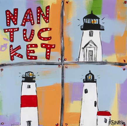 Framed Nantucket Lighthouses Print