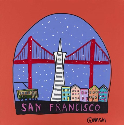 Framed San Francisco Snow Globe Print