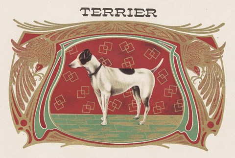 Framed Terrier Print